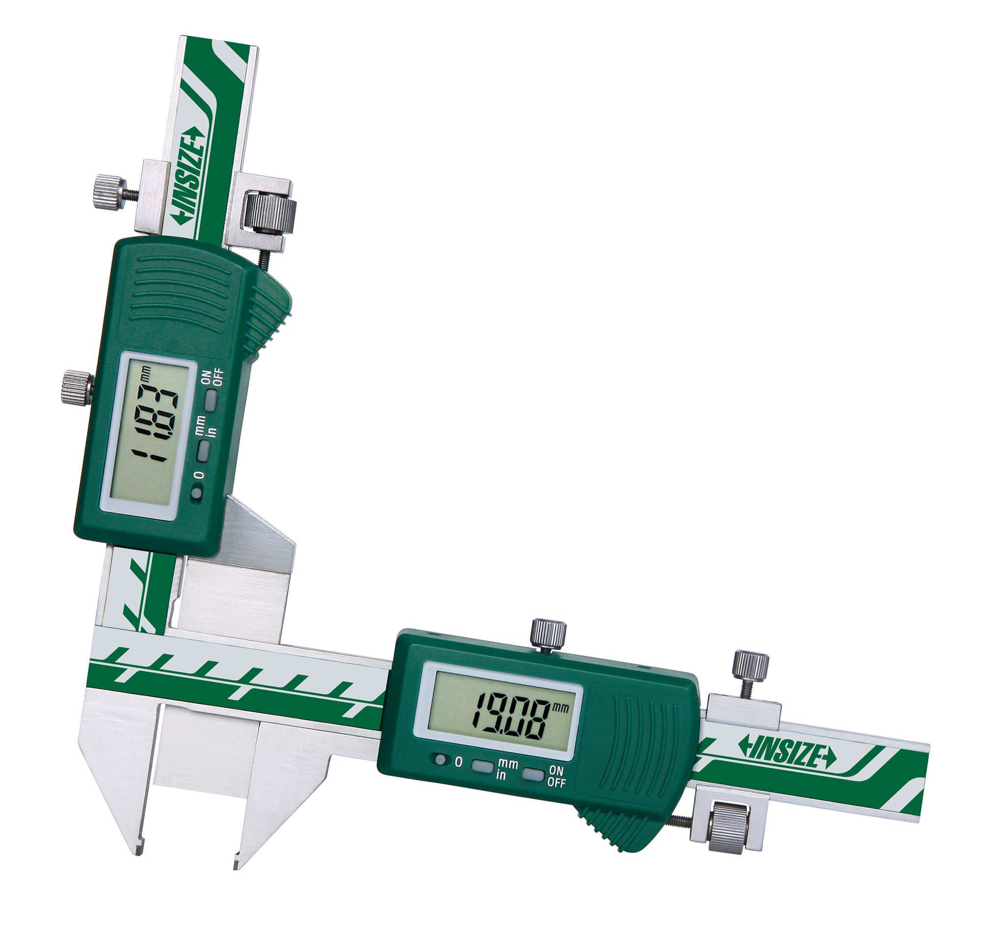 Digital Caliper Brake Disc Thickness Measuring Tool 0-60mm Aluminum Alloy Auto